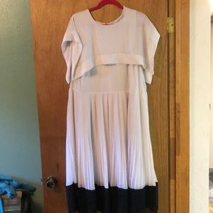 Eloquii layer and pleated dress